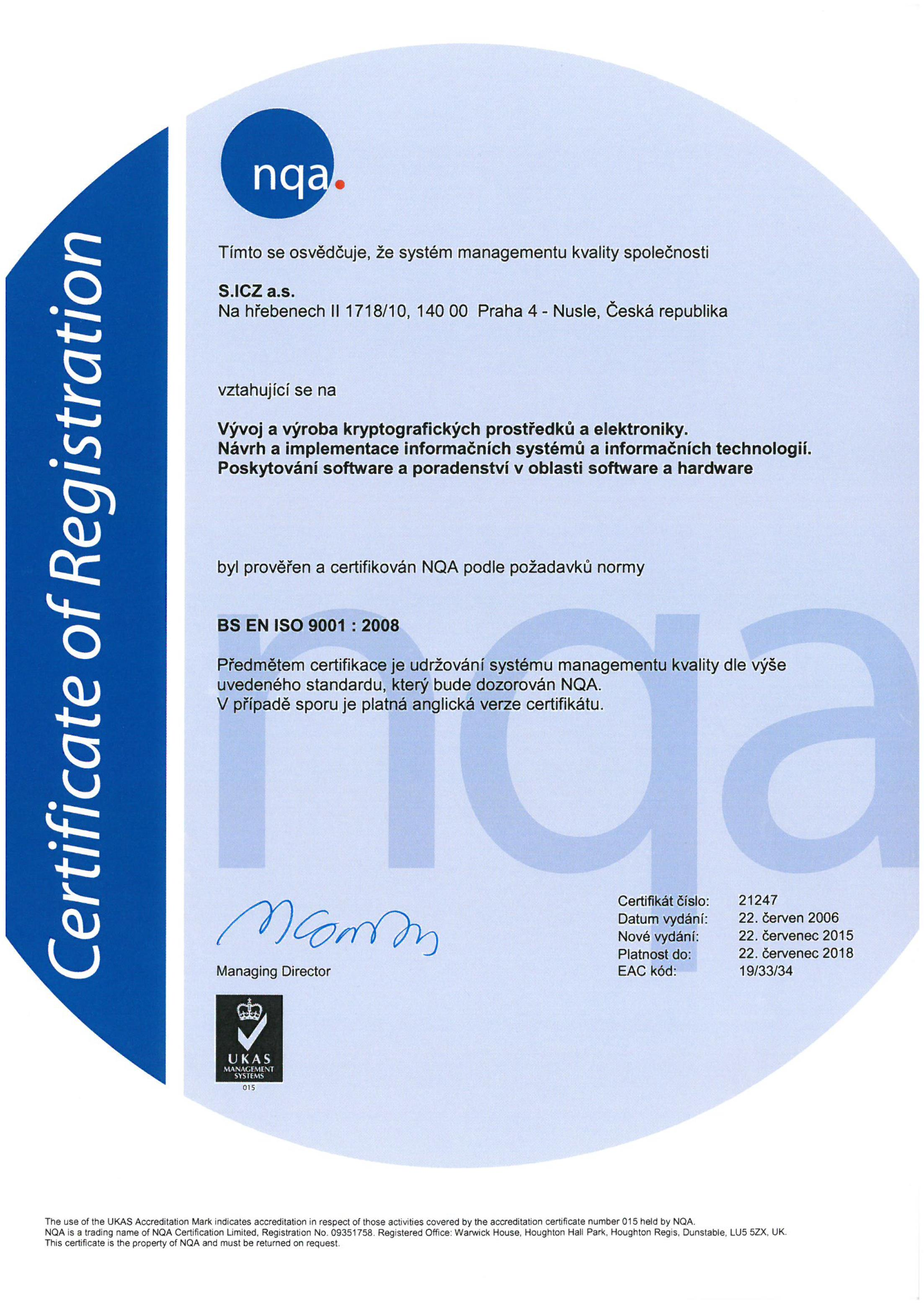 Quality certificates icz group implementing of certified managed systems provides effective safe and high quality services meeting customers requirements xflitez Image collections